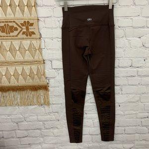 ALO yoga chocolate brown moto leggings
